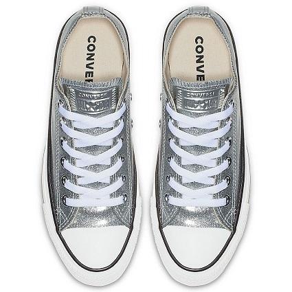 נעלי אולסטאר כסף מנצנץ נשים Converse Glitter Silver