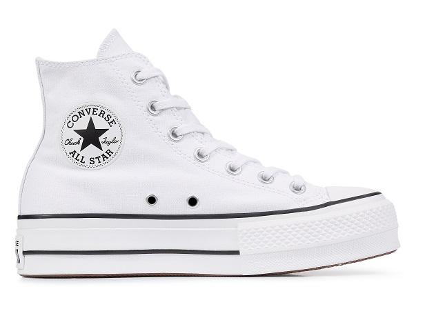 נעלי אולסטאר פלטפורמה בד גבוה נשים Converse Platform High