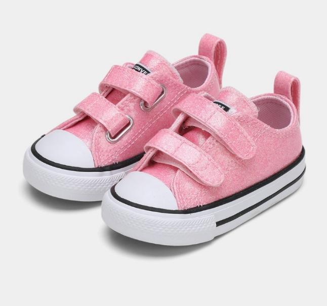 נעלי אולסטאר תינוקות Converse Pink Glitter