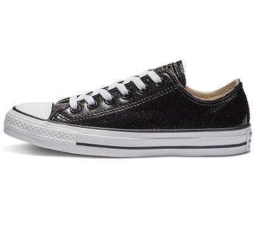 נעלי אולסטאר שחור מטאלי מנצנץ נשים Converse Glitter Black