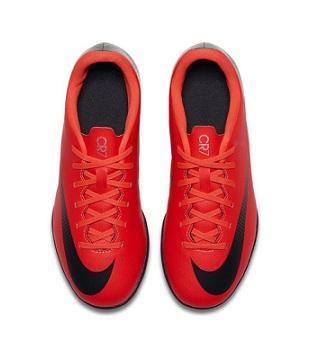 נייק קטרגל ילדים Nike Mercurial Vaporx 12 Club CR7 TF  - תמונה 3