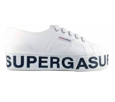 נעלי סופרגה פלטפורמה כיתוב נשים Superga Outsole Lettering  Platform - תמונה 3