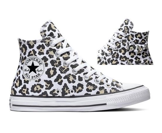 נעלי אולסטאר מנומר כיס נשים Converse Leopard Pocket - תמונה 2