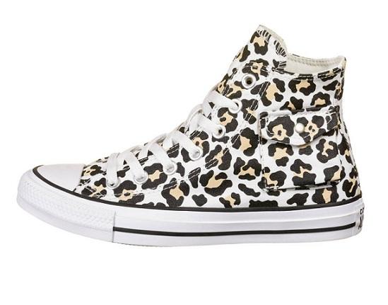 נעלי אולסטאר מנומר כיס נשים Converse Leopard Pocket - תמונה 3