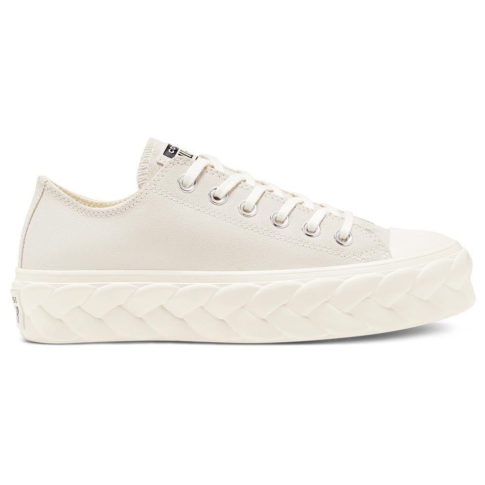 נעלי אולסטאר פלטפורמה צמה בז' נשים Converse Platform Cable