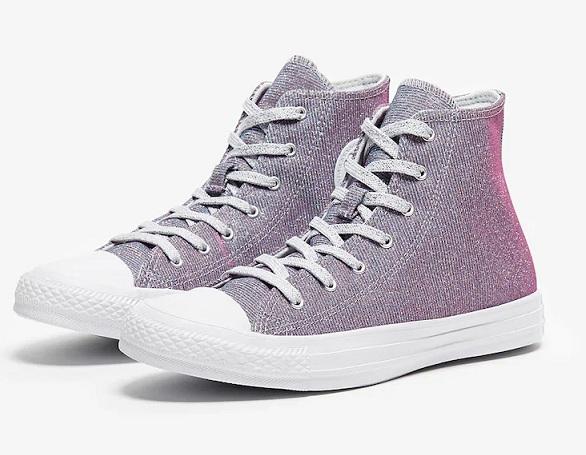 נעלי אולסטאר מנצנץ נשים Converse Pure Platinm - תמונה 1