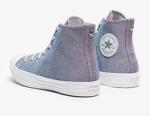 נעלי אולסטאר מנצנץ נשים Converse Pure Platinm - תמונה 2