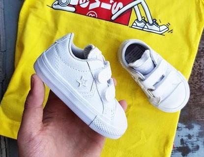 נעלי אולסטאר תינוקות עור Converse 2V Leather