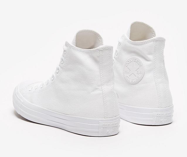 נעלי אולסטאר לבן חלק גבוה נשים גברים Converse Mono White