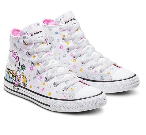 נעלי אולסטאר ילדים תינוקות הלו קיטי Converse Hello Kitty