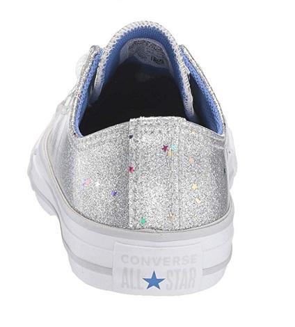 נעלי אולסטאר ילדות כסף Converse Galaxy Shimmer - תמונה 3