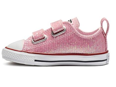 נעלי אולסטאר תינוקות ורוד מנצנץ Converse Pink Sparkle