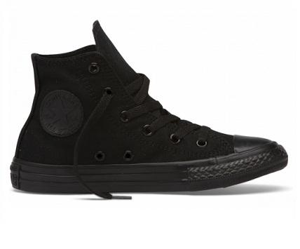 נעלי אולסטאר ילדים שחור חלק Converse Mono Black