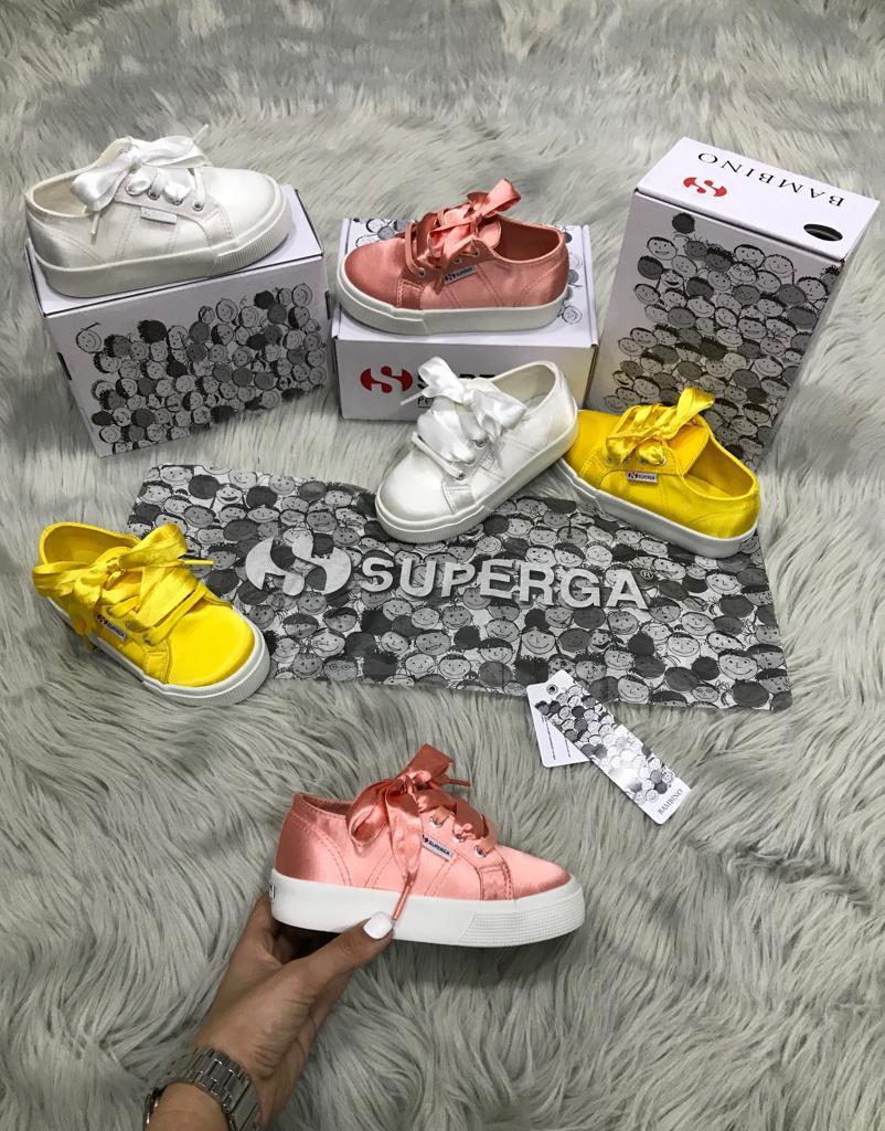 נעלי סופרגה פלטפורמה סאטן ילדות נערות Superga satin