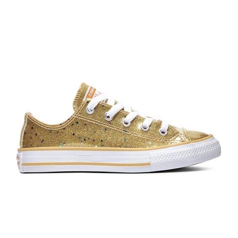 נעלי אולסטאר זהב ילדות Converse Galaxy Shimmer
