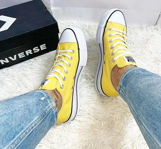נעלי אולסטאר פלטפורמה נשים Converse Platform - תמונה 3