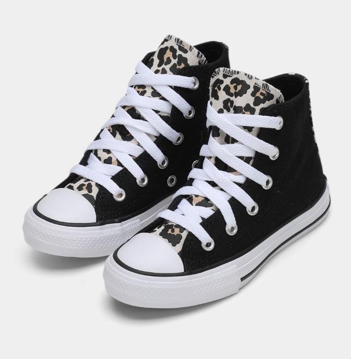 נעלי אולסטאר ילדות מנומר Converse Black Drift