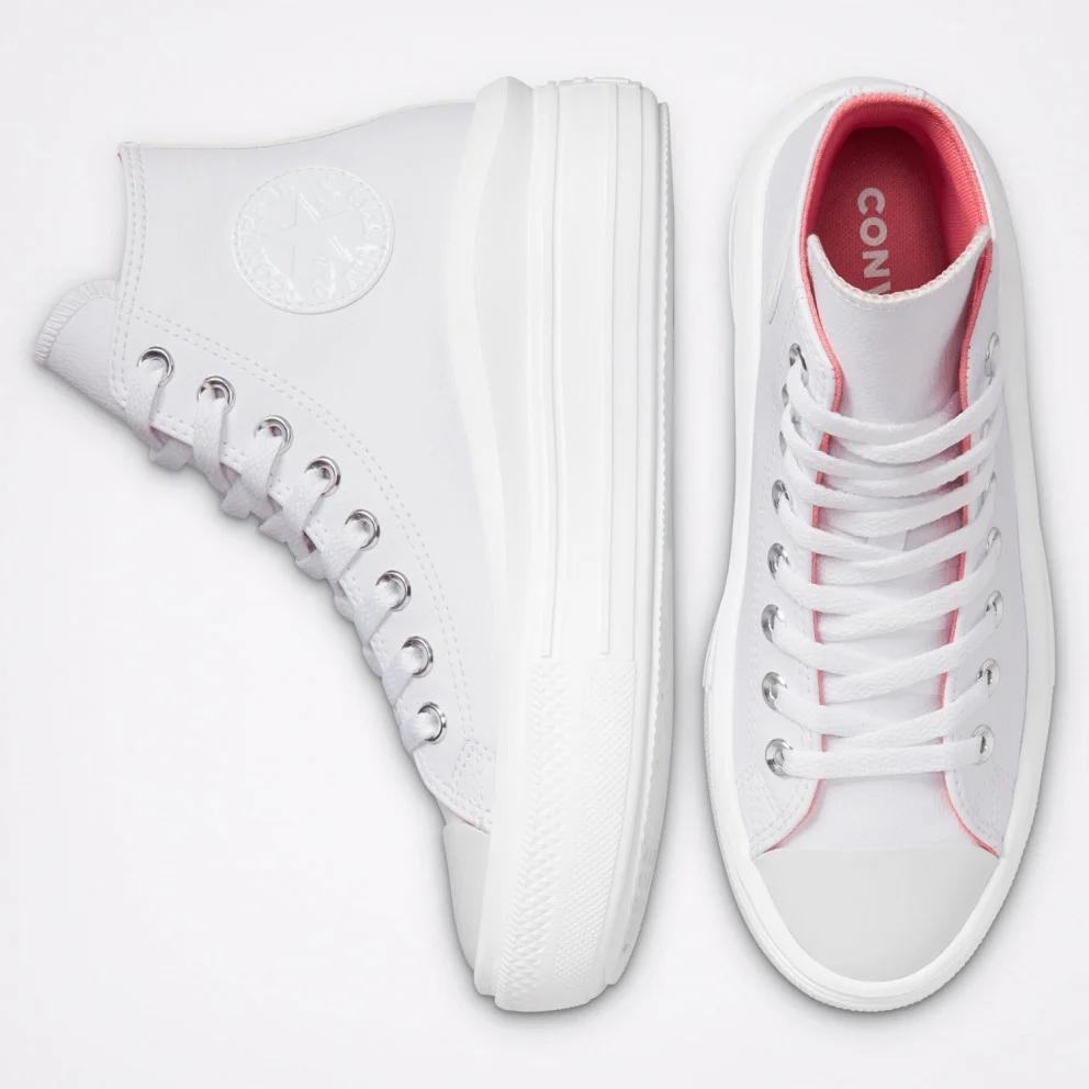 נעלי אולסטאר פלטפורמה דמוי עור Converse Hybrid Shine Move Platform
