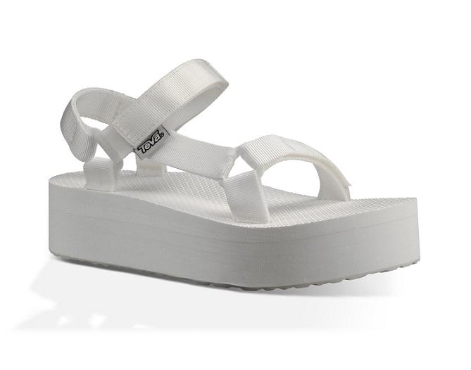 סנדל טיבה פלטפורמה נשים Teva Flatform Universal White