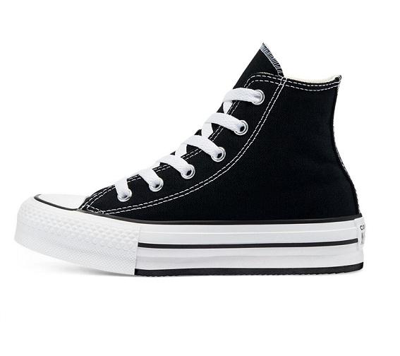 נעלי אולסטאר פלטפורמה גבוה שחור ילדות Converse  Platform Kids