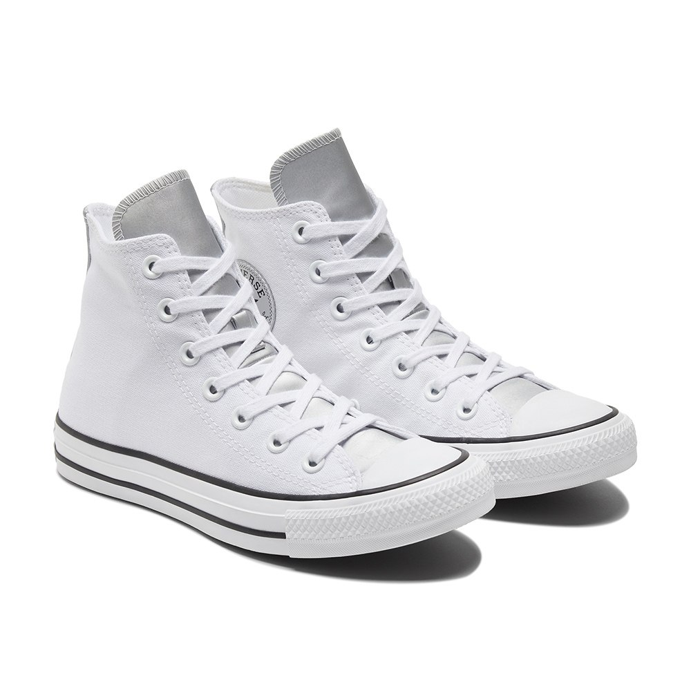נעלי אולסטאר לבן כסף נשים Converse White Silver