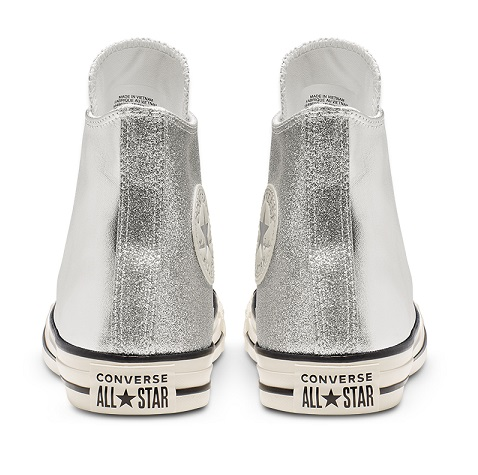נעלי אולסטאר כסף מטאלי מנצנץ נשים Converse Shiny Metal Silver - תמונה 5