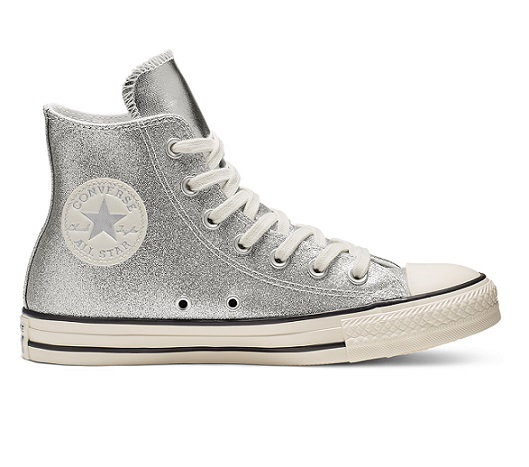 נעלי אולסטאר כסף מטאלי מנצנץ נשים Converse Shiny Metal Silver - תמונה 6