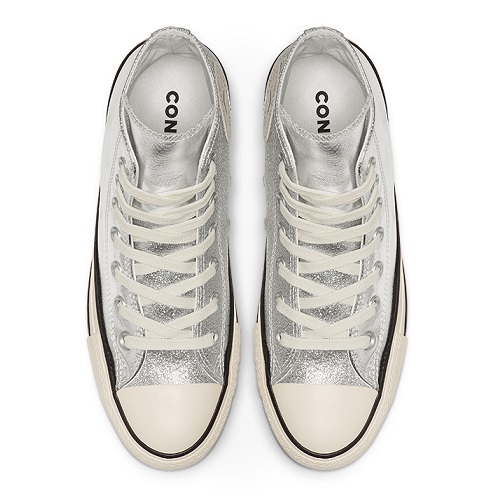 נעלי אולסטאר כסף מטאלי מנצנץ נשים Converse Shiny Metal Silver - תמונה 3