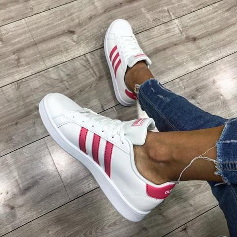 נעלי אדידס אופנה נשים נוער Adidas Grand Court - תמונה 1