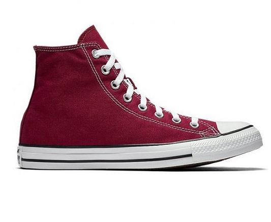 נעלי אולסטאר בורדו גבוהות נשים גברים Converse maroon