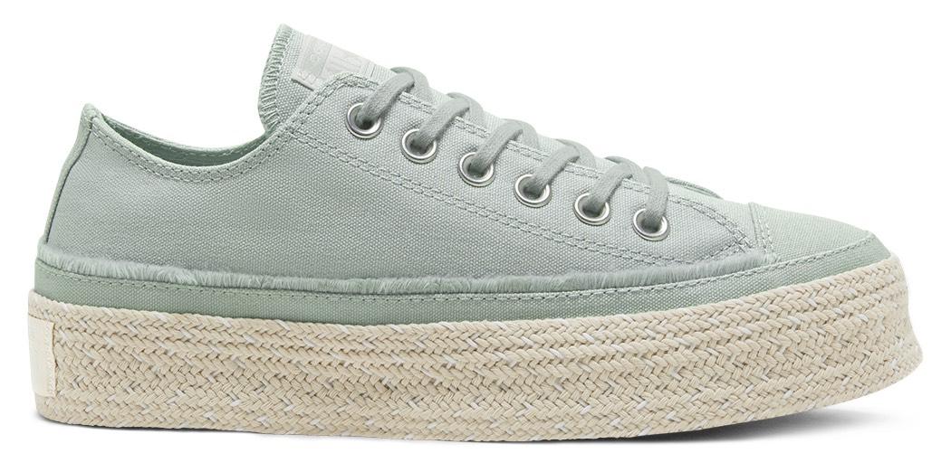 נעלי אולסטאר פלטפורמה קש נשים Converse Platform Espadrille