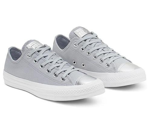 נעלי אולסטאר אפור כסף נשים Converse Wolf grey silver