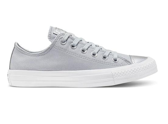 נעלי אולסטאר אפור כסף נשים Converse Wolf grey silver - תמונה 2
