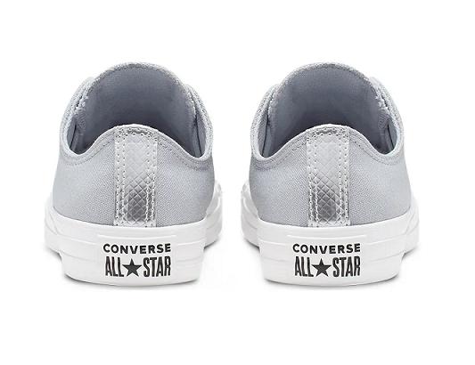 נעלי אולסטאר אפור כסף נשים Converse Wolf grey silver - תמונה 4