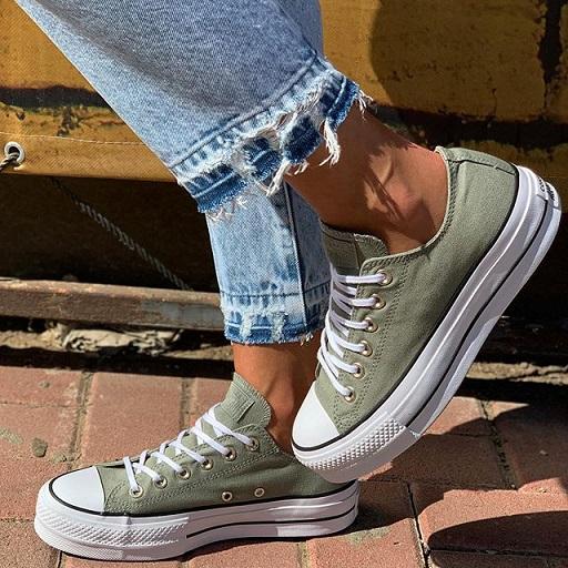 נעלי אולסטאר פלטפורמה נשים Converse Platform - תמונה 6