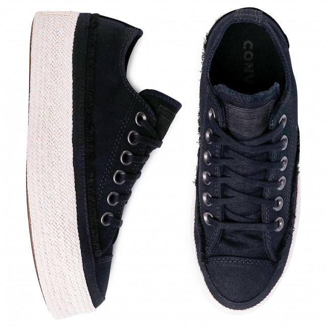 נעלי אולסטאר פלטפורמה קש נשים Converse Espadrille