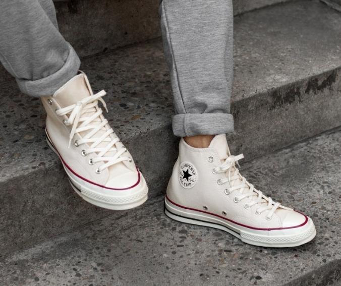 נעלי אולסטאר בז' שנות השיבעים Converse Chuck 70