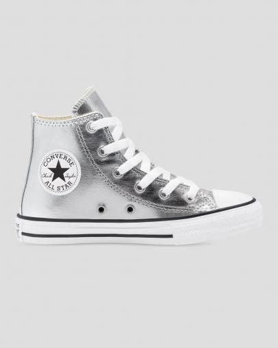 נעלי אולסטאר כסף מטאלי ילדים Converse Silver Metal