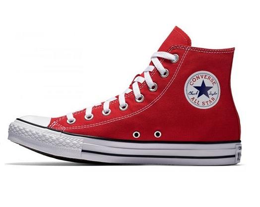 נעלי אולסטאר אדום גבוה נשים גברים Converse red