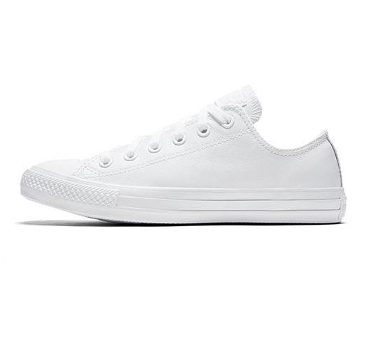 נעלי אולסטאר לבן חלק חצאיות נשים גברים Converse Mono White