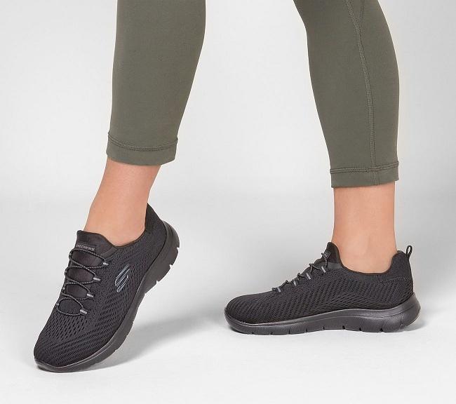 נעלי סקצרס ספורט ללא שריכה נשים Skechers Summits Fast Attraction