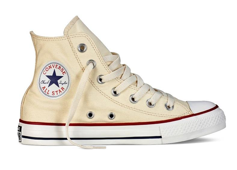 נעלי אולסטאר קרם שמנת נשים גברים Converse natural white
