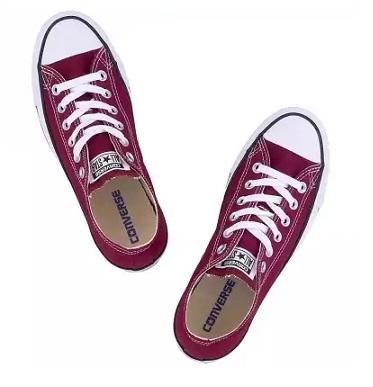 נעלי אולסטאר בורדו חצאיות נשים גברים Converse maroon