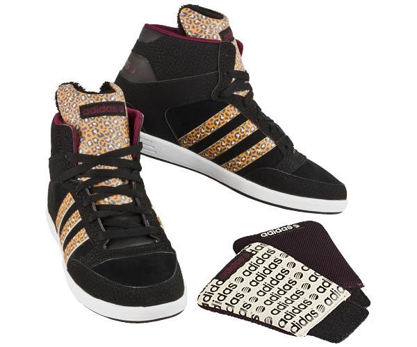 נעלי אדידס גבוהות נשים Adidas Hoops cst Animal