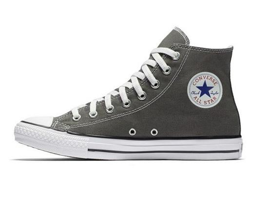 נעלי אולסטאר אפור גבוה נשים גברים Converse charcoal
