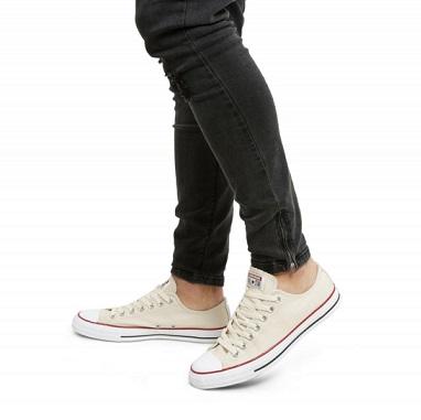 נעלי אולסטאר קרם שנהב נשים גברים Converse natural Ivory