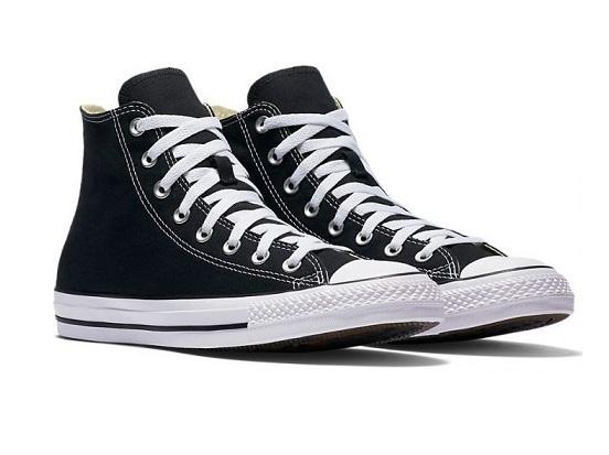 נעלי אולסטאר שחור גבוה נשים גברים Converse black