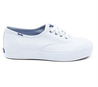 נעלי קדס פלטפורמה נשים Keds Triple White - תמונה 2