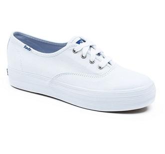 נעלי קדס פלטפורמה נשים Keds Triple White