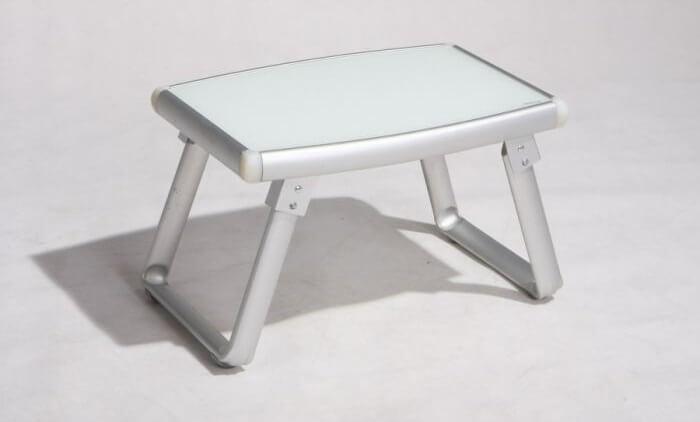 שולחן נמוך מאלומיניום צבע לבן